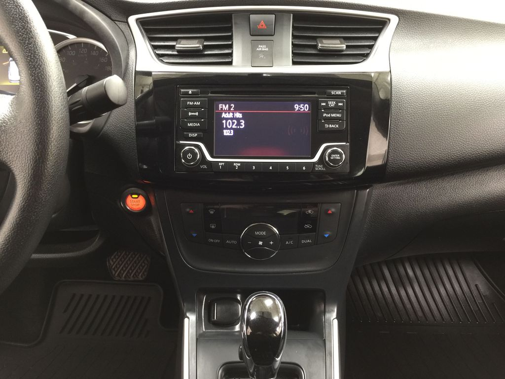 White[Aspen White Pearl] 2018 Nissan Sentra SV Central Dash Options Photo in Sherwood Park AB