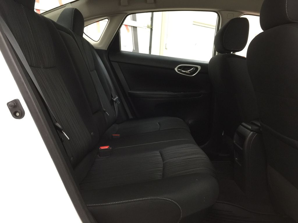 White[Aspen White Pearl] 2018 Nissan Sentra SV Right Side Rear Seat  Photo in Sherwood Park AB