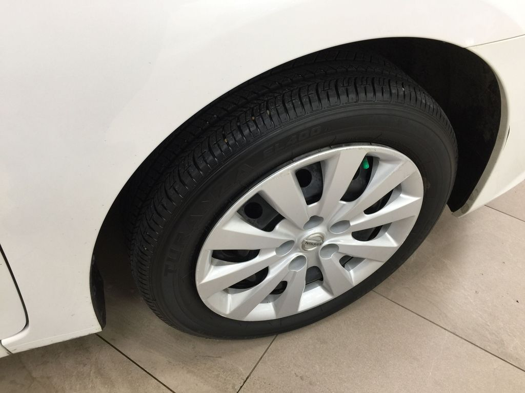 White[Aspen White Pearl] 2018 Nissan Sentra SV Right Front Rim and Tire Photo in Sherwood Park AB