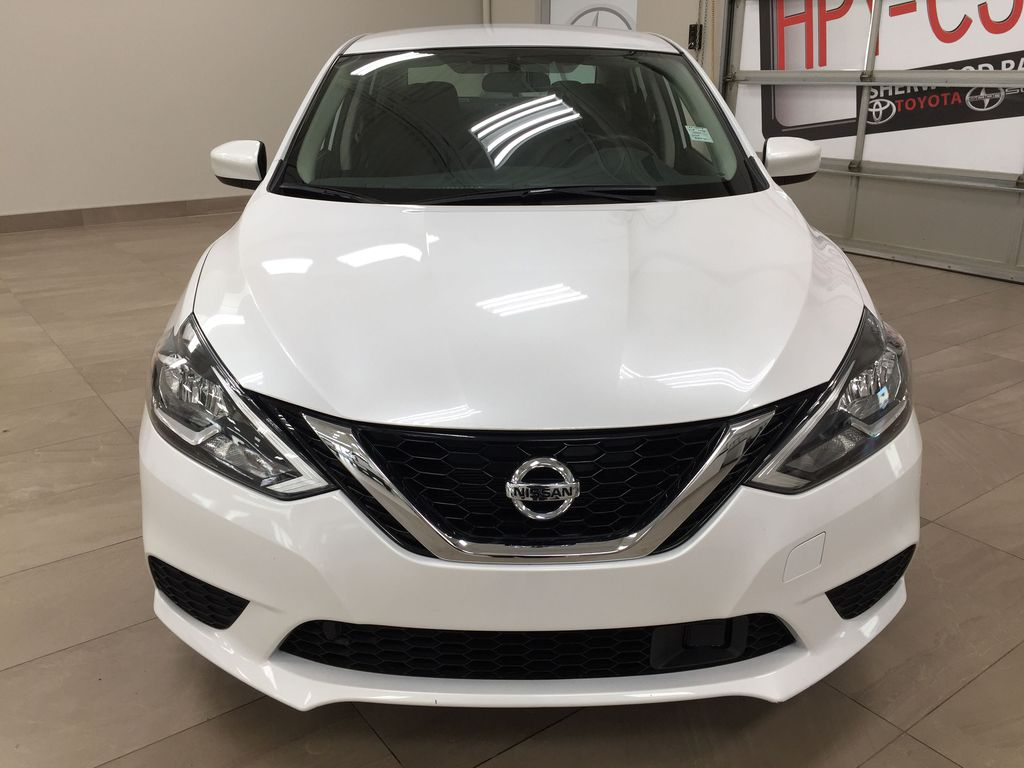 White[Aspen White Pearl] 2018 Nissan Sentra SV Front Vehicle Photo in Sherwood Park AB