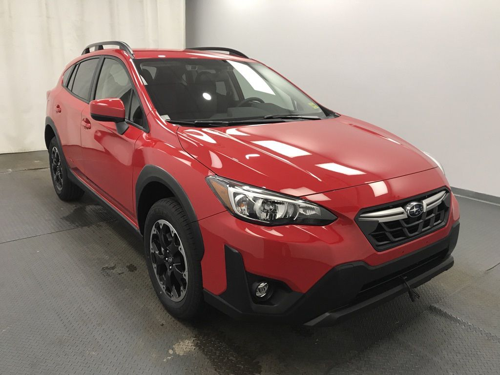 Red 2021 Subaru Crosstrek Left Front Rim and Tire Photo in Lethbridge AB