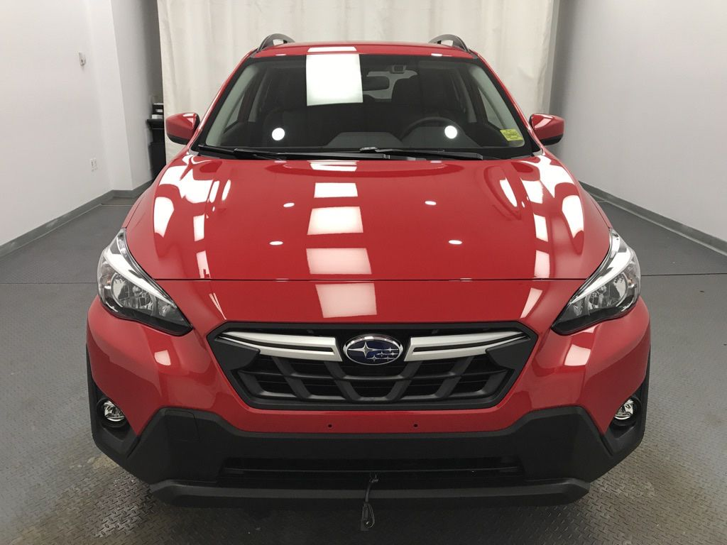 Red 2021 Subaru Crosstrek Left Front Corner Photo in Lethbridge AB