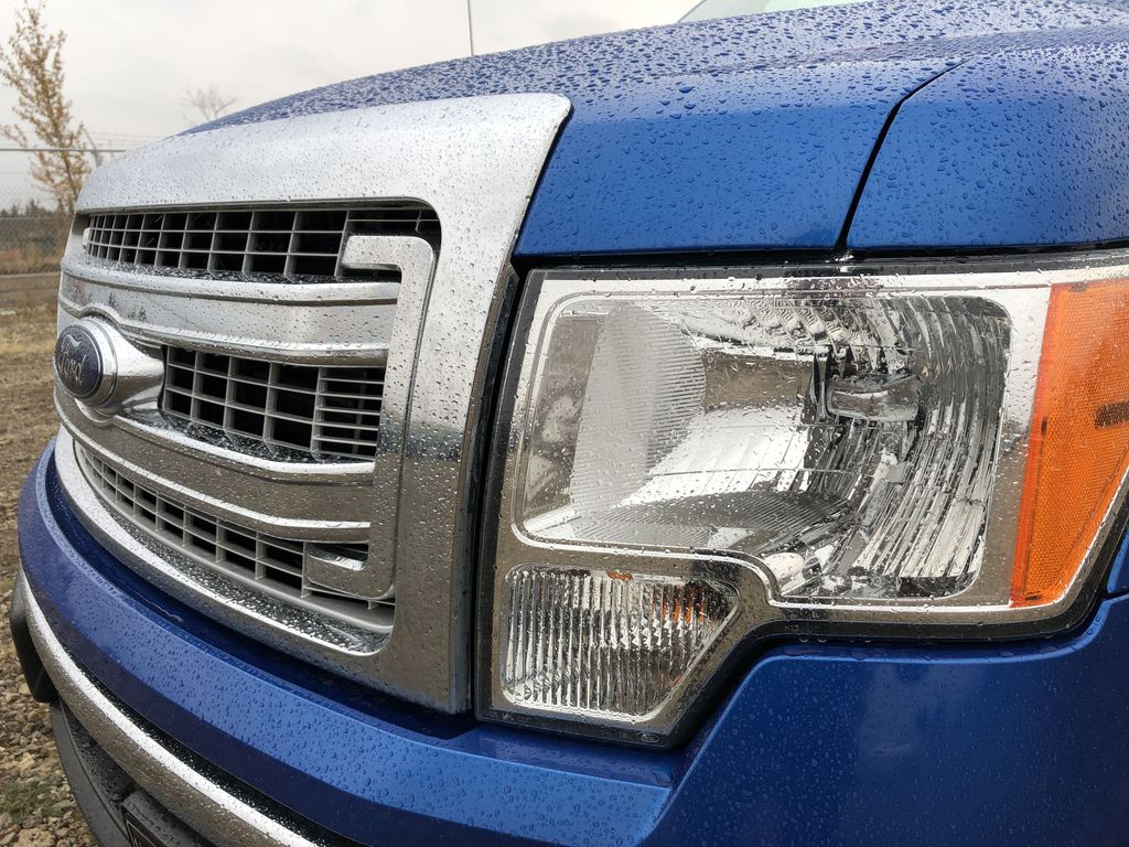 Blue[Blue Flame] 2014 Ford F-150 Left Front Head Light / Bumper and Grill in Edmonton AB