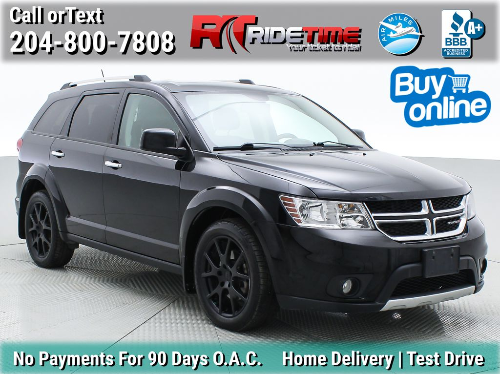 Black[Pitch Black] 2015 Dodge Journey R/T AWD - 7 Passenger, Sunroof, Rear DVD, NAV