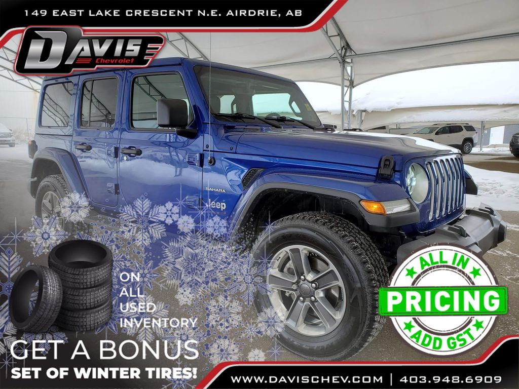 Blue 2019 Jeep Wrangler Unlimited