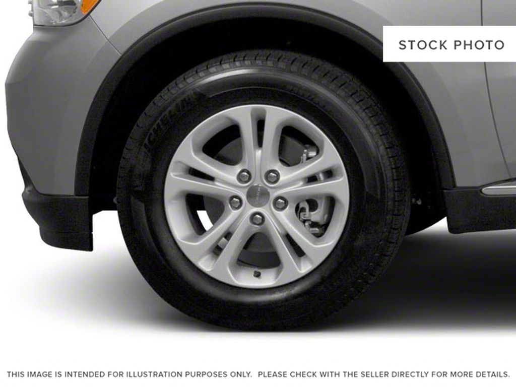 Black[Brilliant Black Crystal Pearl] 2012 Dodge Durango Left Front Rim and Tire Photo in Fort Macleod AB