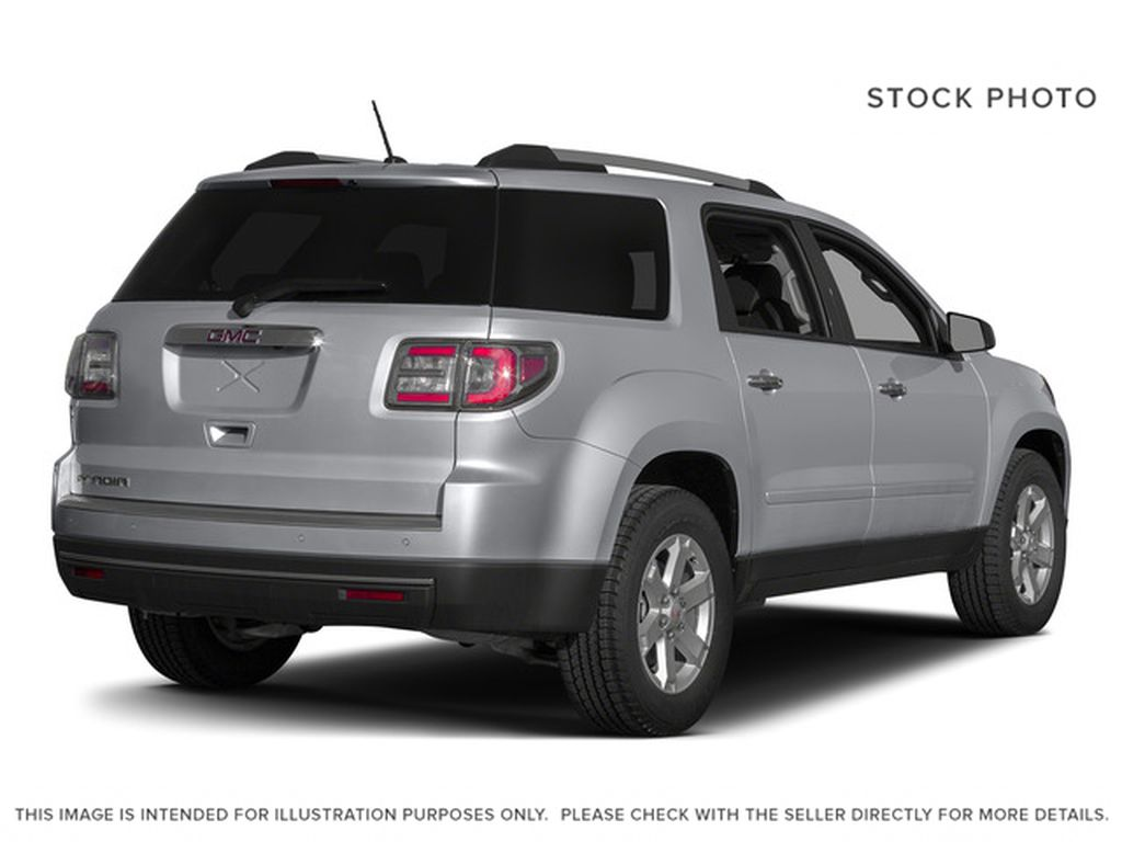 Silver[Quicksilver Metallic] 2015 GMC Acadia Right Rear Corner Photo in Fort Macleod AB