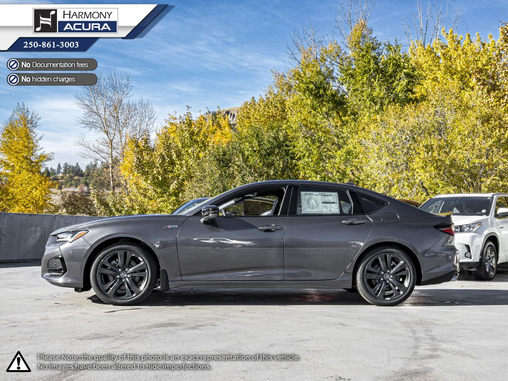 GREY_NH-797M 2021 Acura TLX Left Side Photo in Kelowna BC