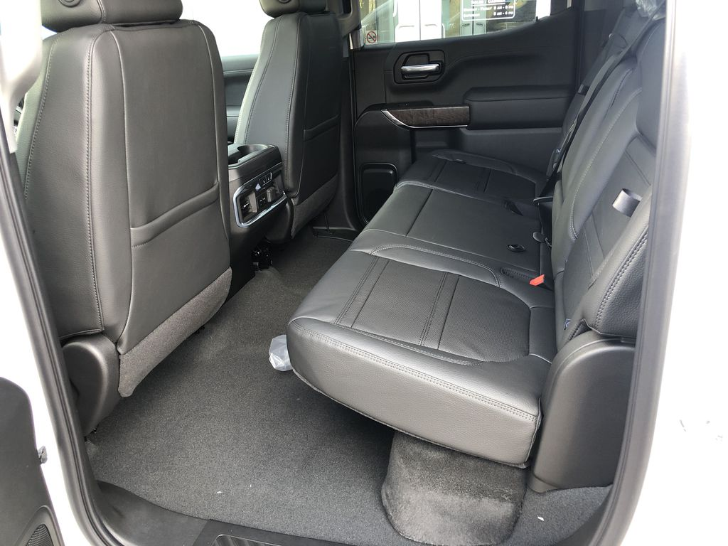 White[White Frost Tricoat] 2021 GMC Sierra 1500 Denali Left Side Rear Seat  Photo in Canmore AB