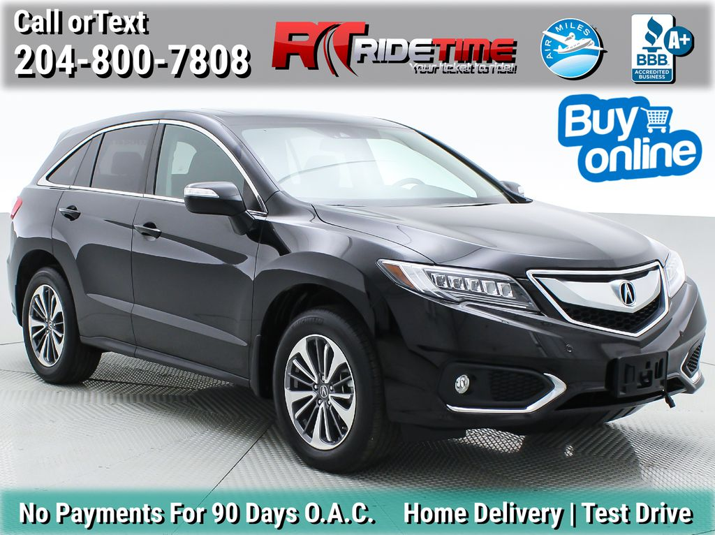Black[Crystal Black Pearl] 2017 Acura RDX Elite AWD - Local MB Vehicle, Clean One Owner CarFax