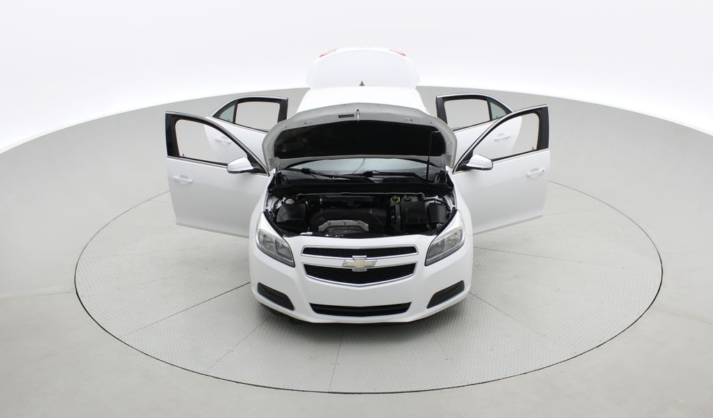 White[Summit White] 2013 Chevrolet Malibu LS - Cheap Used Car For Sale, Cruise Control Front Vehicle Photo in Winnipeg MB