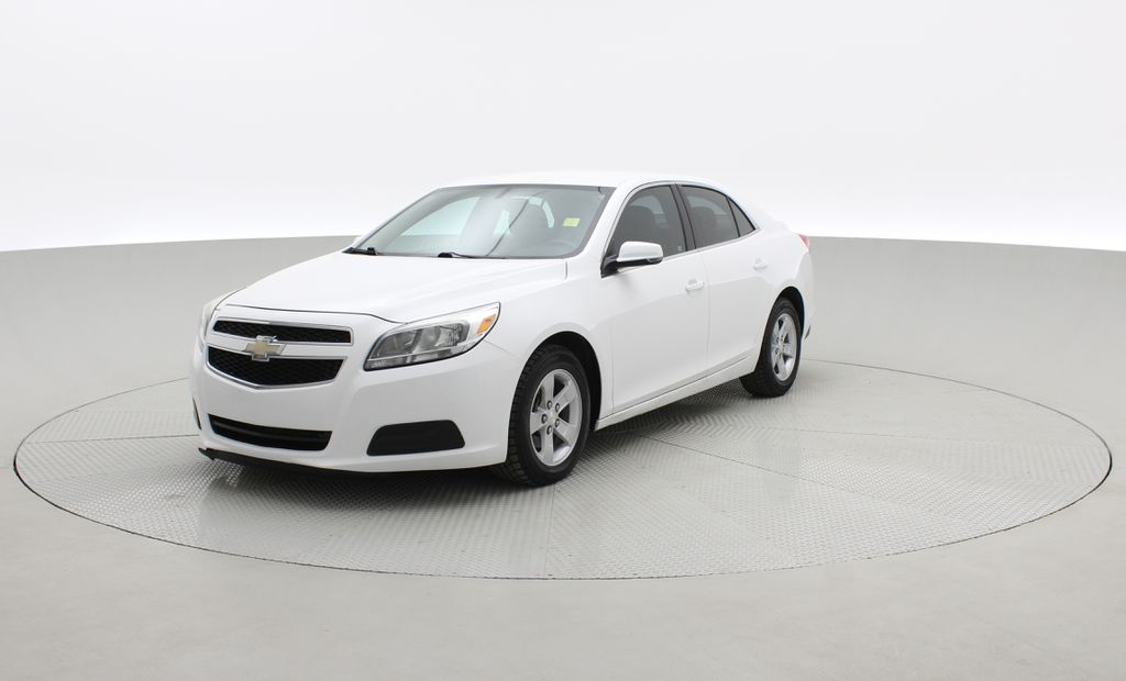 White[Summit White] 2013 Chevrolet Malibu LS - Cheap Used Car For Sale, Cruise Control Left Front Corner Photo in Winnipeg MB