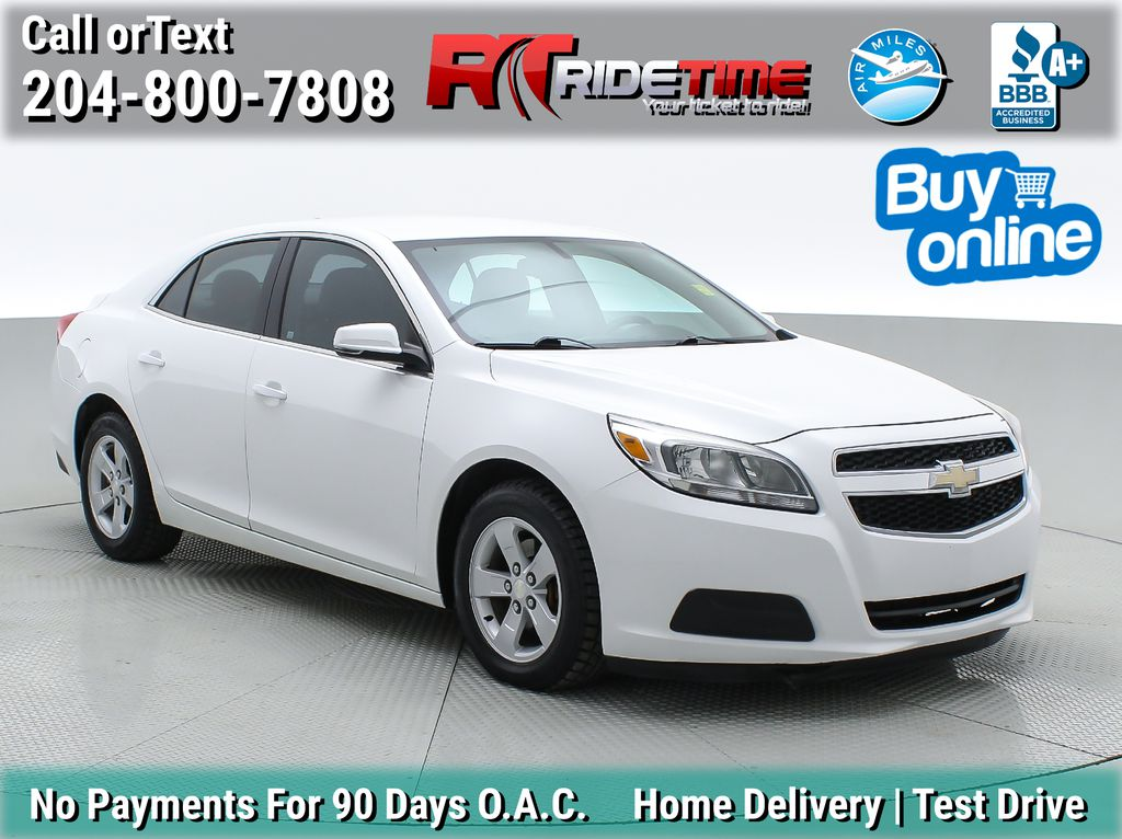 White[Summit White] 2013 Chevrolet Malibu LS - Cheap Used Car For Sale, Cruise Control
