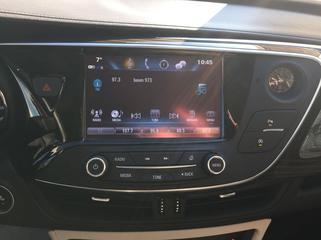 BLACK 2019 Buick Envision Steering Wheel and Dash Photo in Oshawa ON