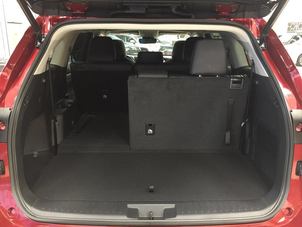 Red[Ruby Flare Pearl] 2021 Toyota Highlander XLE Cargo Area/Rear Seats Photo in Sherwood Park AB