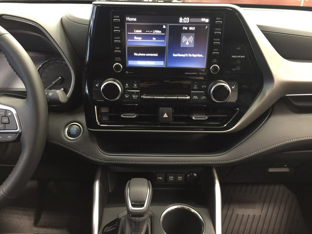 Red[Ruby Flare Pearl] 2021 Toyota Highlander XLE Central Dash Options Photo in Sherwood Park AB