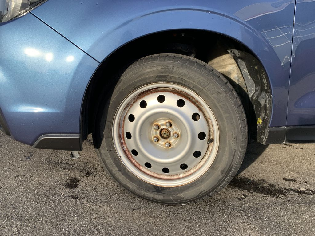 Blue 2017 Subaru Forester Left Front Rim and Tire Photo in Brampton ON