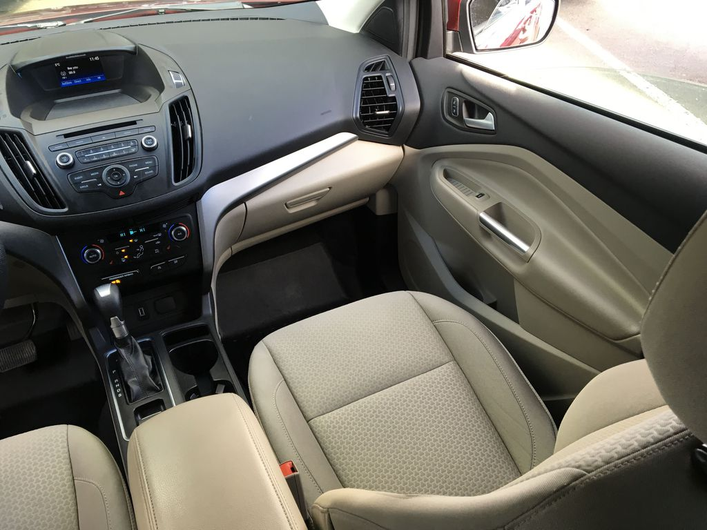 Red[Ruby Red Metallic Tinted Clearcoat] 2017 Ford Escape SE Right Side Front Seat  Photo in Kelowna BC