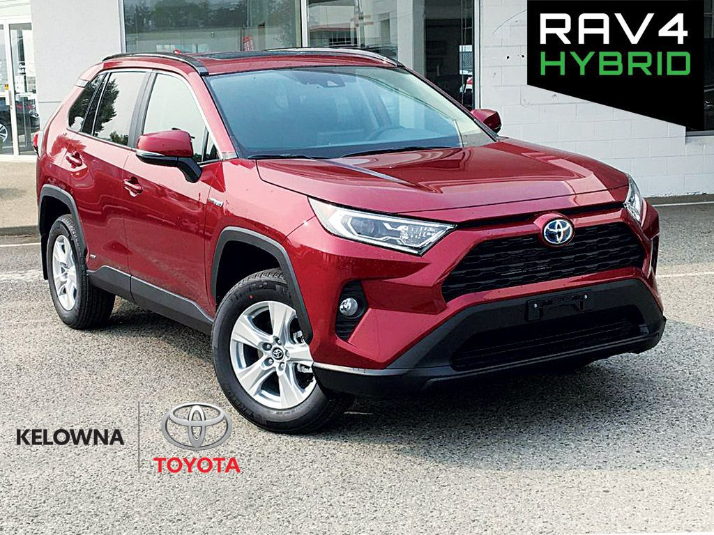 Red[Ruby Flare Pearl] 2021 Toyota RAV4 Hybrid XLE