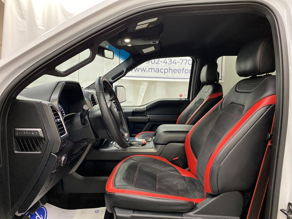 White[Oxford White] 2016 Ford F-150 Left Front Interior Photo in Dartmouth NS