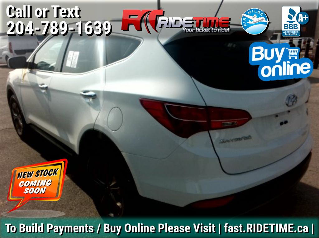 White[Frost White] 2015 Hyundai Santa Fe Sport Premium AWD - Heated Seats, Bluetooth Left Rear Corner Photo in Winnipeg MB