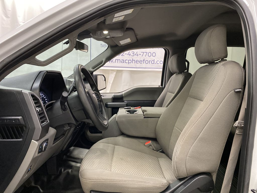 White[Oxford White] 2019 Ford F-150 Left Front Interior Photo in Dartmouth NS