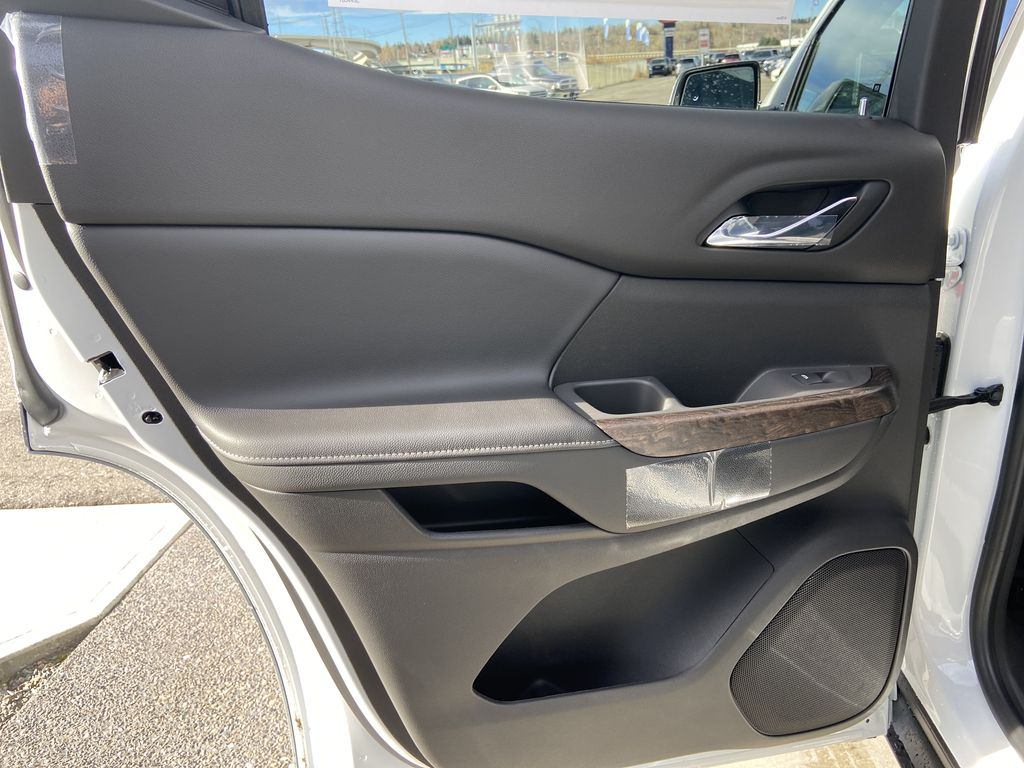 White[White Frost Tricoat] 2021 GMC Acadia Denali Left Rear Interior Door Panel Photo in Calgary AB