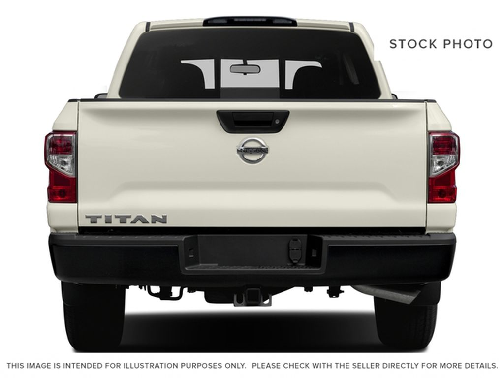 Blue[Deep Blue Pearl] 2017 Nissan Titan Rear of Vehicle Photo in Cold Lake AB