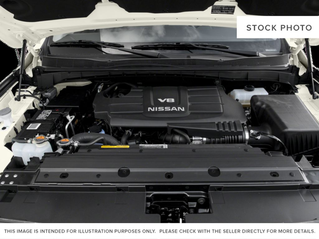 Blue[Deep Blue Pearl] 2017 Nissan Titan Engine Compartment Photo in Cold Lake AB