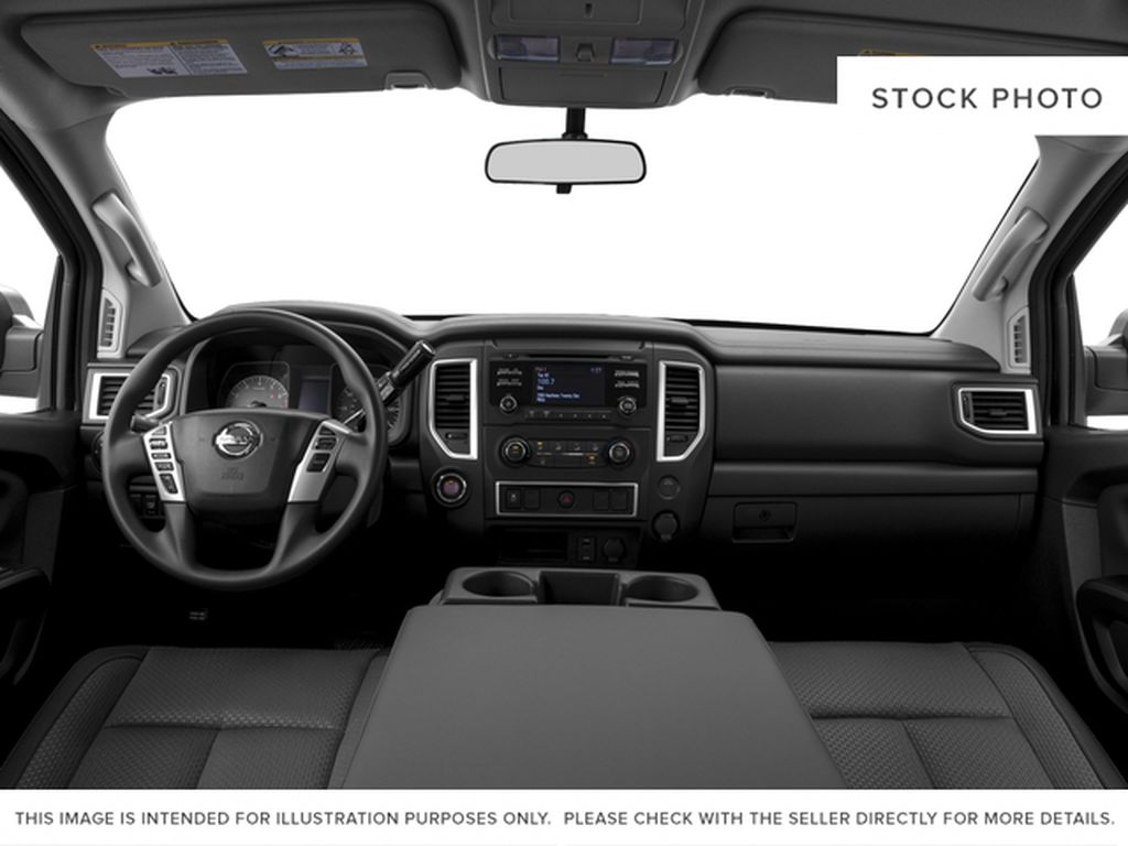 Blue[Deep Blue Pearl] 2017 Nissan Titan Central Dash Options Photo in Cold Lake AB