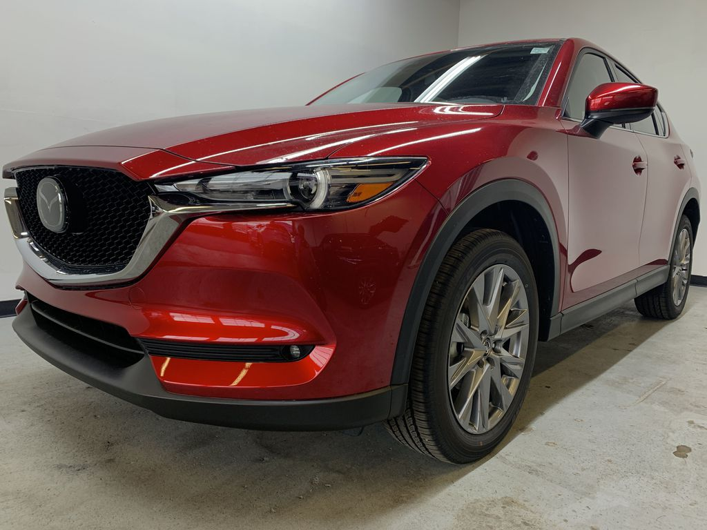 SOUL RED CRYSTAL METALLIC(46V) 2021 Mazda CX-5 GT AWD Left Front Corner Photo in Edmonton AB