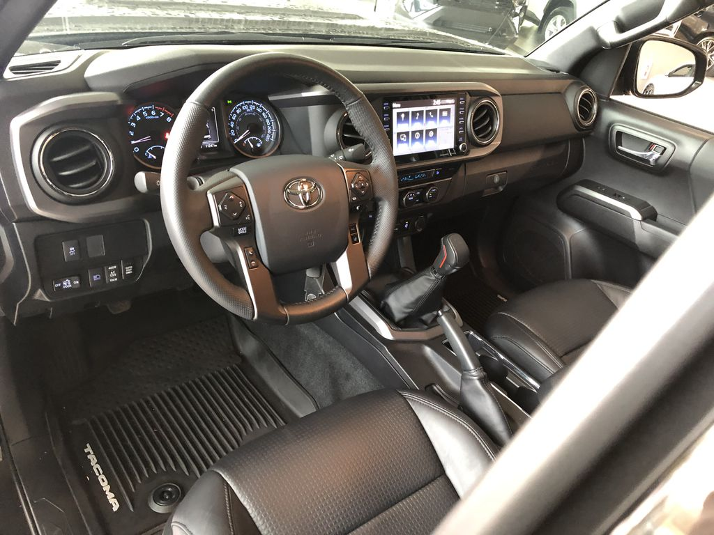 Black 2020 Toyota Tacoma TRD Sport Premium | Toyota Certified Steering Wheel/Instruments Photo in Edmonton AB