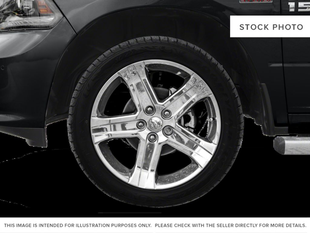 White[Bright White] 2017 Ram 1500 Left Front Rim and Tire Photo in Fort Macleod AB