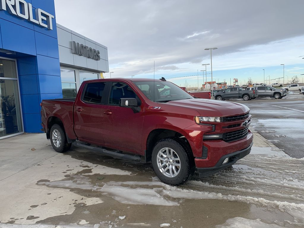 Red[Cajun Red Tintcoat] 2020 Chevrolet Silverado 1500 Left Front Rim and Tire Photo in Fort Macleod AB