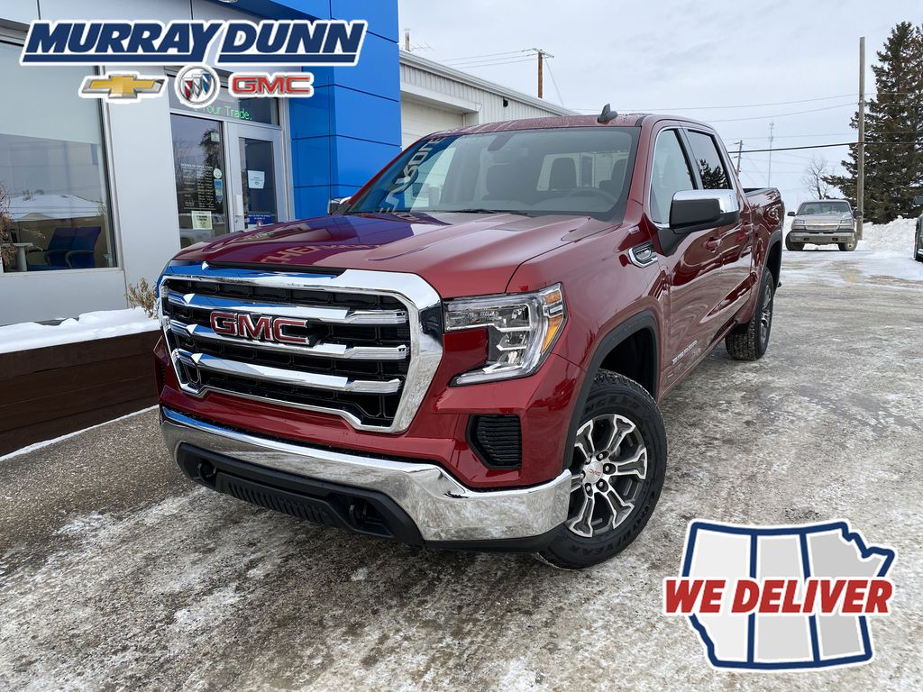 Red[Cayenne Red Tintcoat] 2021 GMC Sierra 1500 SLE