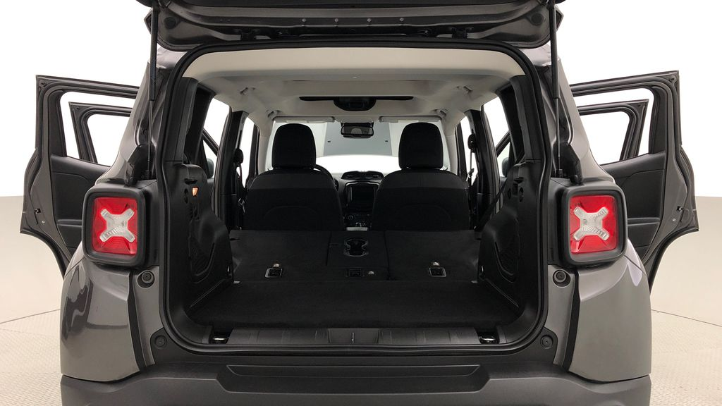 Gray[Granite Crystal Metallic] 2019 Jeep Renegade Trailhawk 4WD - My Sky Open Air Roof System Rear Seat: Cargo/Storage Photo in Winnipeg MB
