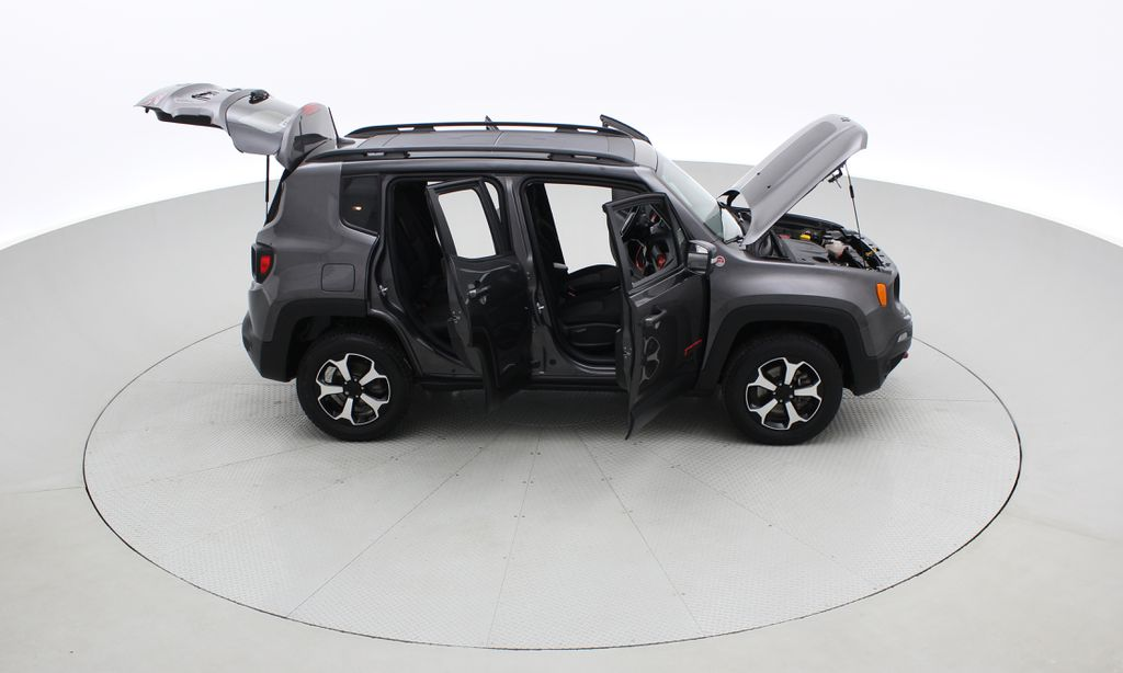 Gray[Granite Crystal Metallic] 2019 Jeep Renegade Trailhawk 4WD - My Sky Open Air Roof System Right Side Photo in Winnipeg MB