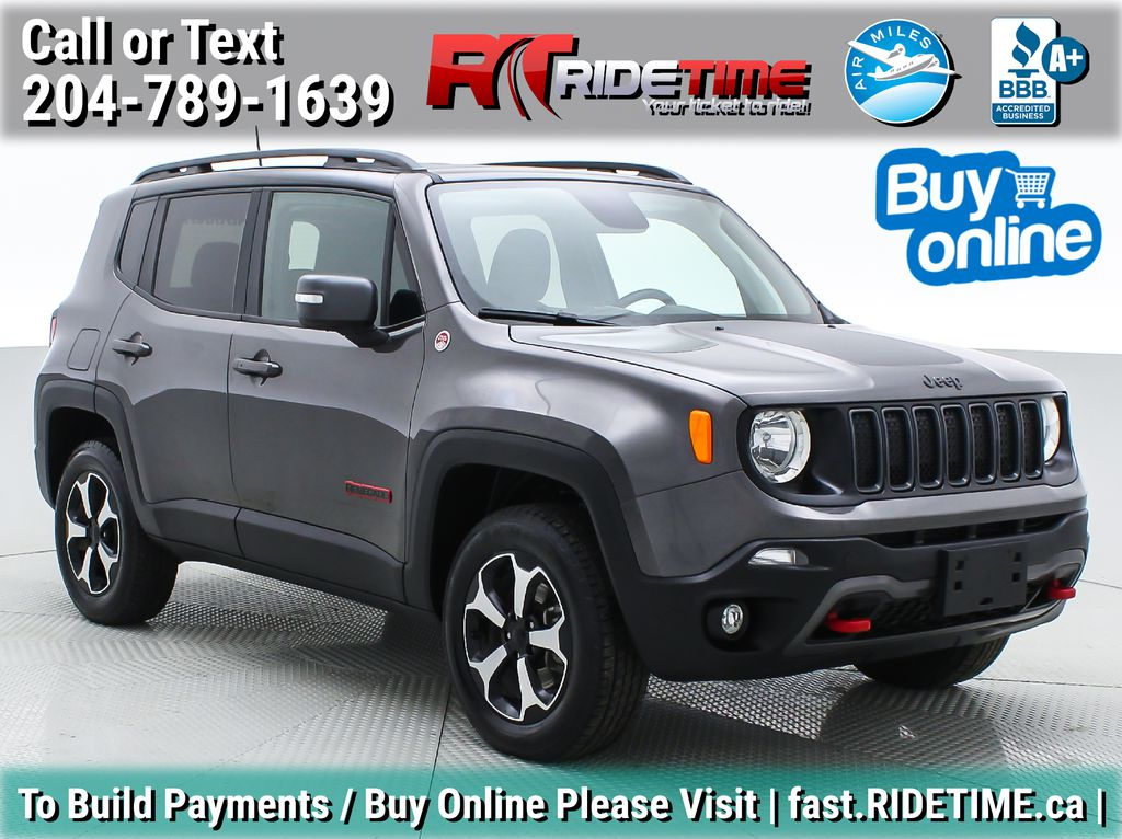 Gray[Granite Crystal Metallic] 2019 Jeep Renegade Trailhawk 4WD - My Sky Open Air Roof System