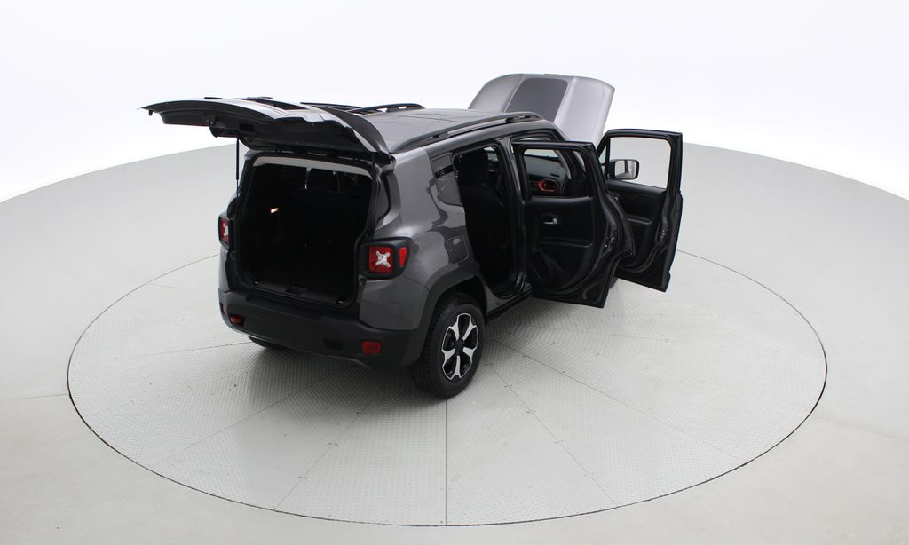 Gray[Granite Crystal Metallic] 2019 Jeep Renegade Trailhawk 4WD - My Sky Open Air Roof System Right  Rear Corner Photo in Winnipeg MB