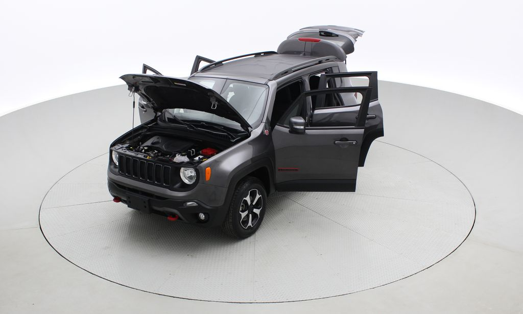 Gray[Granite Crystal Metallic] 2019 Jeep Renegade Trailhawk 4WD - My Sky Open Air Roof System Left Front Corner Photo in Winnipeg MB