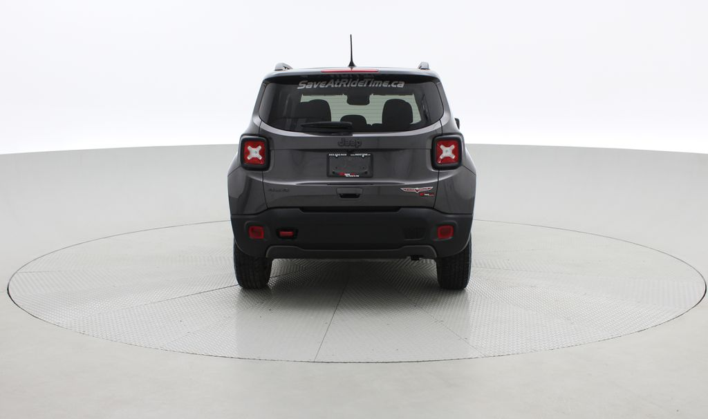 Gray[Granite Crystal Metallic] 2019 Jeep Renegade Trailhawk 4WD - My Sky Open Air Roof System Rear of Vehicle Photo in Winnipeg MB