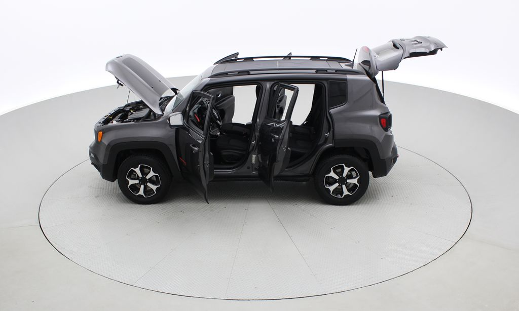 Gray[Granite Crystal Metallic] 2019 Jeep Renegade Trailhawk 4WD - My Sky Open Air Roof System Left Side Photo in Winnipeg MB