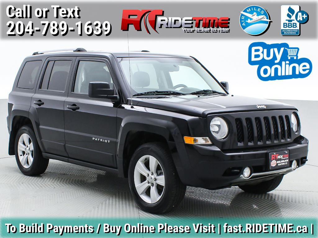 Black[Black] 2015 Jeep Patriot Limited 4WD - Leather, Sunroof, Navigation, Bluetooth