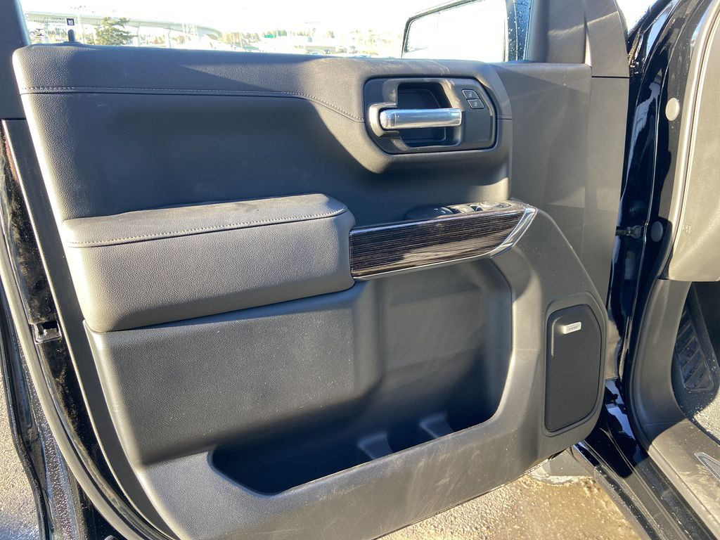 Black[Onyx Black] 2021 GMC Sierra 1500 Elevation Left Front Interior Door Panel Photo in Calgary AB