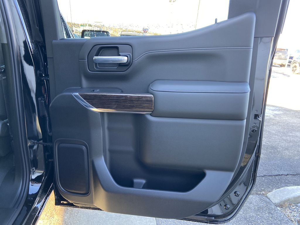 Black[Onyx Black] 2021 GMC Sierra 1500 Elevation Right Rear Interior Door Panel Photo in Calgary AB