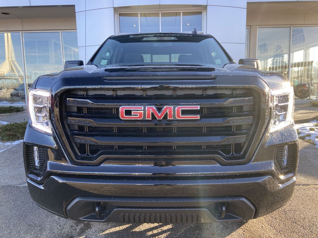 Black[Onyx Black] 2021 GMC Sierra 1500 Elevation Front Vehicle Photo in Calgary AB
