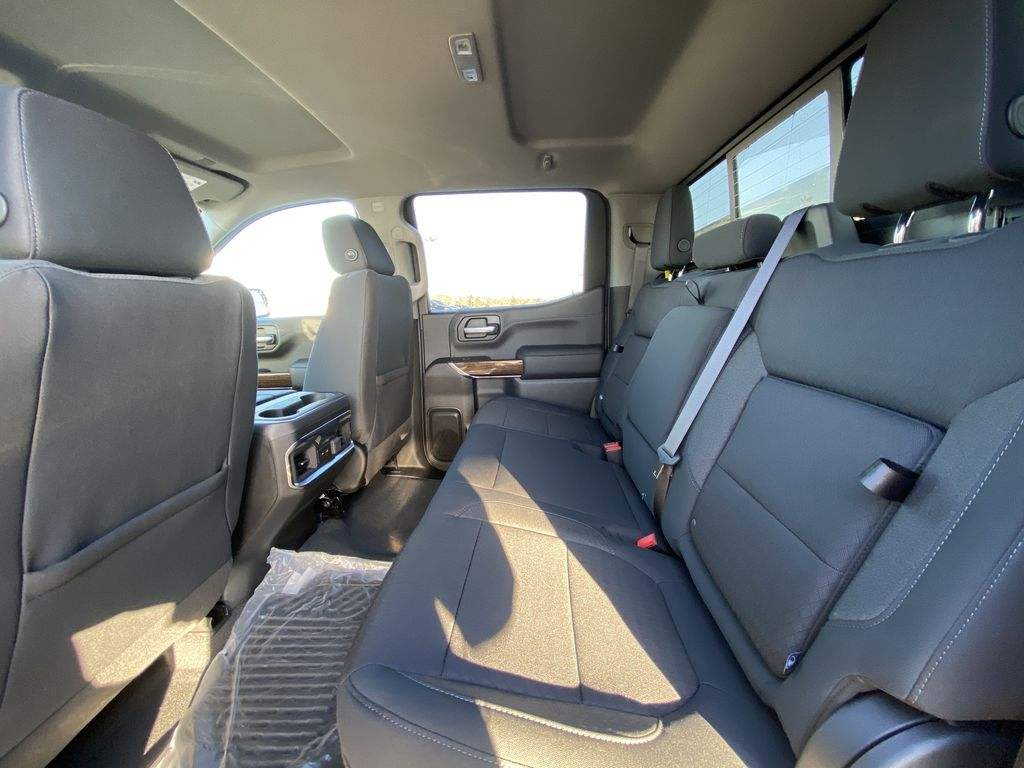 Black[Onyx Black] 2021 GMC Sierra 1500 Elevation Left Side Rear Seat  Photo in Calgary AB