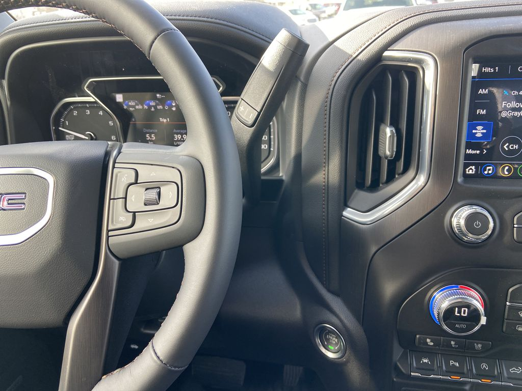 Black[Onyx Black] 2021 GMC Sierra 1500 AT4 Center Console Photo in Calgary AB