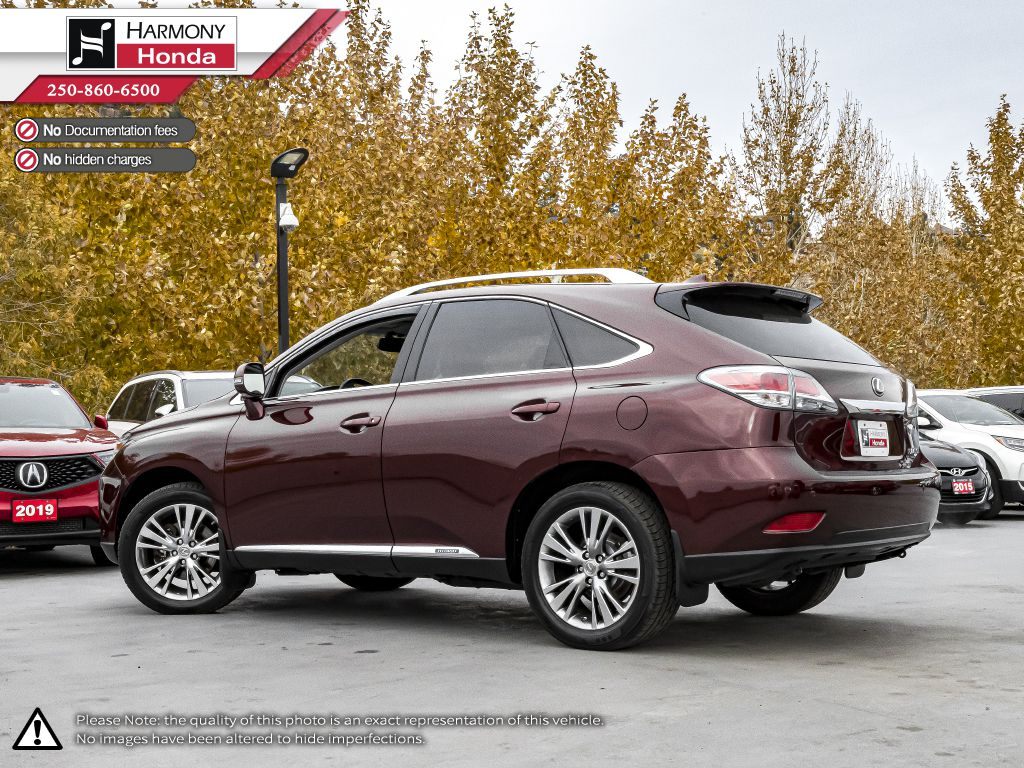 Red 2014 Lexus RX 450h Left Side Rear Seat  Photo in Kelowna BC