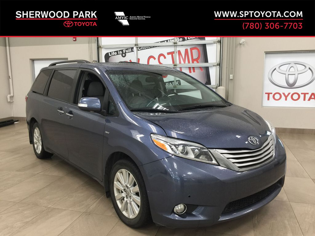 Blue[Shoreline Blue Pearl] 2017 Toyota Sienna Limited AWD